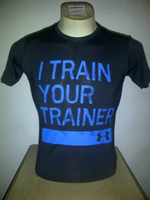 Kaos Hitam I Train Your Trainer Under Armour