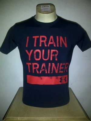 Kaos Biru Navy I Train Your Trainer Under Armour