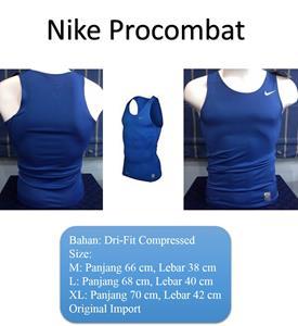 Singlet Biru Nike Pro Combat Dri Fit