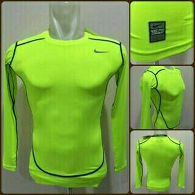 Baselayer Nike Pro Combat Green Lengan Panjang