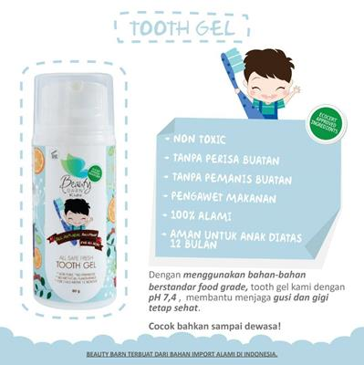 Beauty Barn All Safe Fresh / Edible Tooth Gel 80 gram (Pasta Gigi Bayi & Anak)