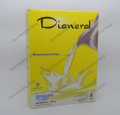 Dianeral Vanila 180 gram (Susu Pengganti Makanan Untuk Penderita Kencing Manis / Diabetes)