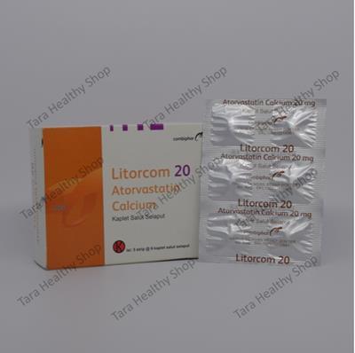 Litorcom – Atorvastatin Calcium 20 mg: Obat Untuk Menurunkan Kolesterol Jahat (LDL)