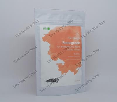 Herbilogy Fenugreek Extract Powder 100% Natural – 100 gram (Membantu Melancarkan Air Susu Ibu)