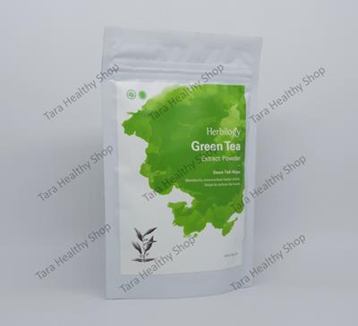 Herbilogy Green Tea Extract Powder 100% Natural – 100 gram (Program Diet – Membantu Menurunkan Kadar Lemak)