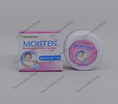 MOISTEN Baby & Kids Rash Skin Cream – 10 gram (Melembabkan & Melembutkan Kulit Si Kecil. Cocok untuk Ruam popok, Gigitan nyamuk, Alergi kulit & Kulit yang meradang.)