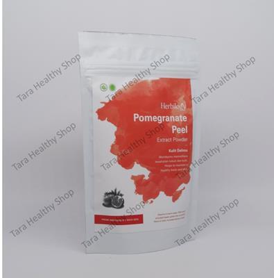 Herbilogy Pomegranate Peel Extract Powder 100% Natural – 100 gram (Memelihara Kesehatan Kulit & Tubuh)