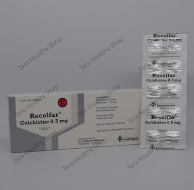 Recolfar – 30 Tablet / Box (Mencegah & Mengatasi Nyeri Gout / Asam Urat Akut)