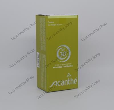 Acanthe Sunscreen Cream SPF 30 – 30 gram (Tabir Surya UV-A & UV-B Berkualitas)