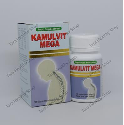 Kamulvit Mega – 30 Kaplet Salut Selaput (Multivitamin & Mineral Komplit Untuk Kesehatan Tulang & Gigi)