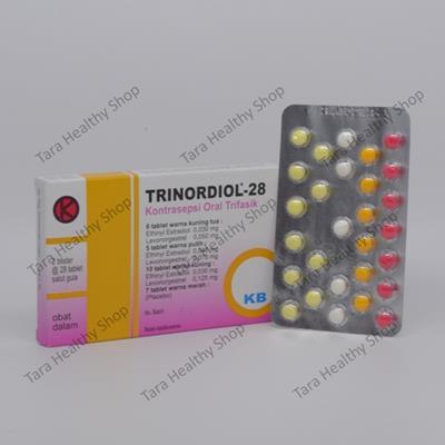 Trinordiol-28 – [2×28 Tablet Salut Gula] (Pil KB Berkualitas Dengan Efek Samping Minimal)