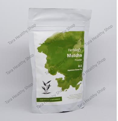 Herbilogy Matcha (Japanese Green Tea) Powder 100% Natural – 100 gram (Minuman Kaya Antioksidan)