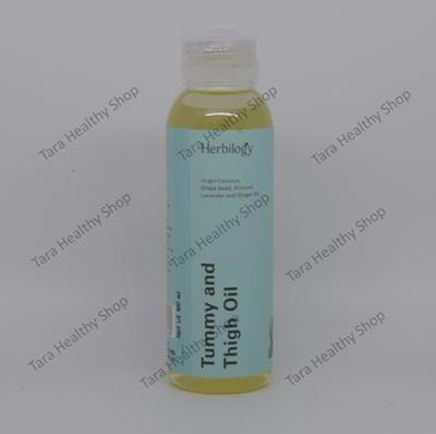 Herbilogy Tummy & Thigh Oil – 100 ml (Memudarkan Stretch Mark & Melembabkan Kulit)