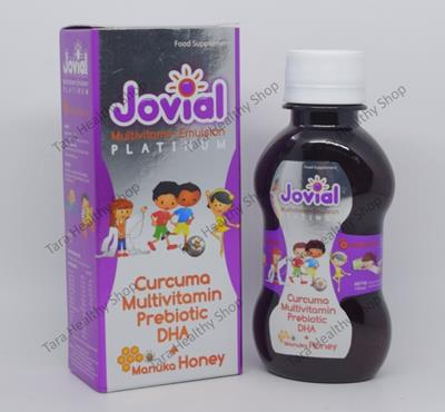 Jovial Platinum Multivitamin Emulsion – 110 ml (Multivitamin + Prebiotic + DHA + Curcuma + Madu Manuka)