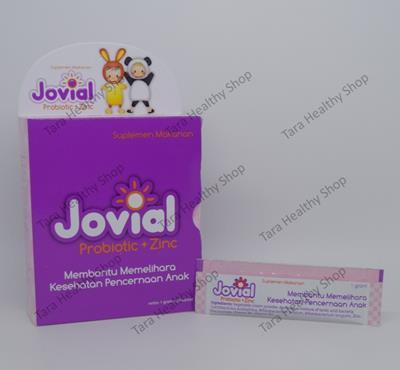 Jovial Probiotic + Zinc – 20 Sachet @ 1 Gram (Menjaga Kesehatan Saluran Pencernaan)