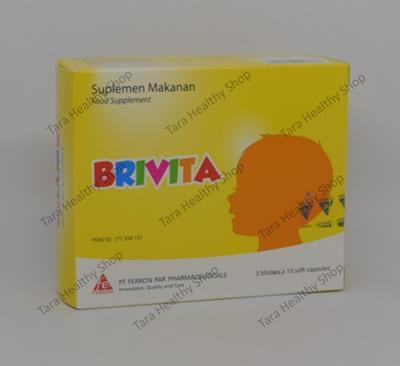 Brivita – 30 Soft Capsules (Omega 3 & 6 [DHA – EPA – ARA] Berkualitas Untuk Bayi & Anak)