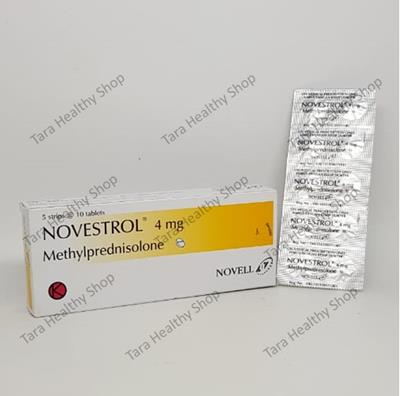 Novestrol 4 – 50 Tablet: Methylprednisolone (Anti Radang / Alergi Berkualitas)