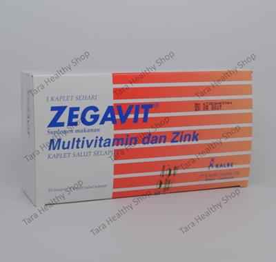 Zegavit – 50 Kaplet Salut Selaput (Multivitamin Untuk Kesehatan Tubuh)